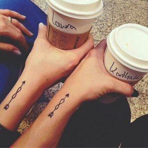 bff tattoo kleine pijl