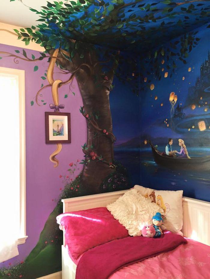 disney muurschildering tangled