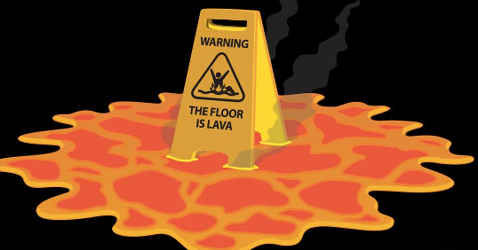 hoe speel je the floor is lava