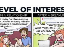 relatie breakup cartoon